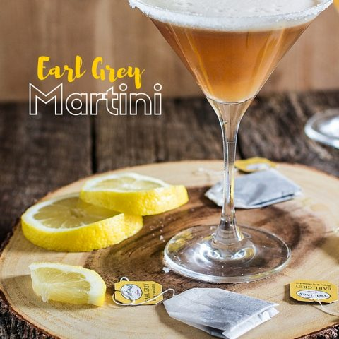 Earl Grey Martini | www.oliviascuisine.com | A delicious and refreshing tea cocktail made with gin, early grey tea, lemon juice and simple syrup!