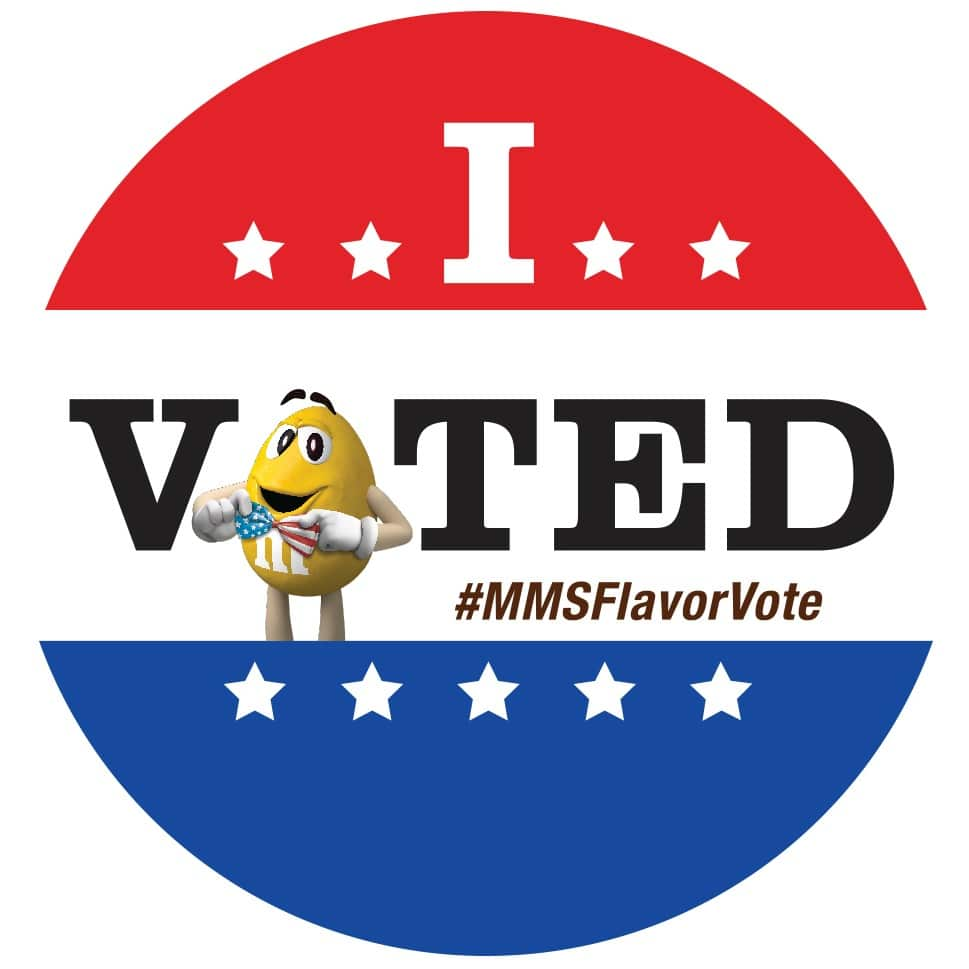 MARS Flavor Vote I Voted Sticker-2