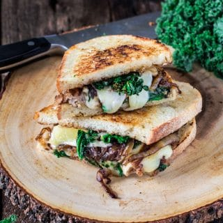 Kale and Sausage Grilled Cheese Sandwich