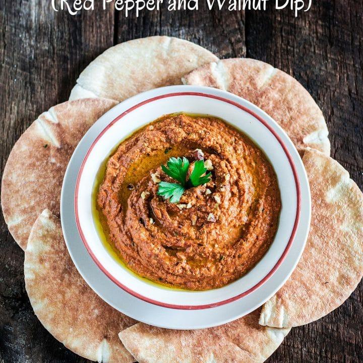 Muhammara (Red Pepper and Walnut Dip)
