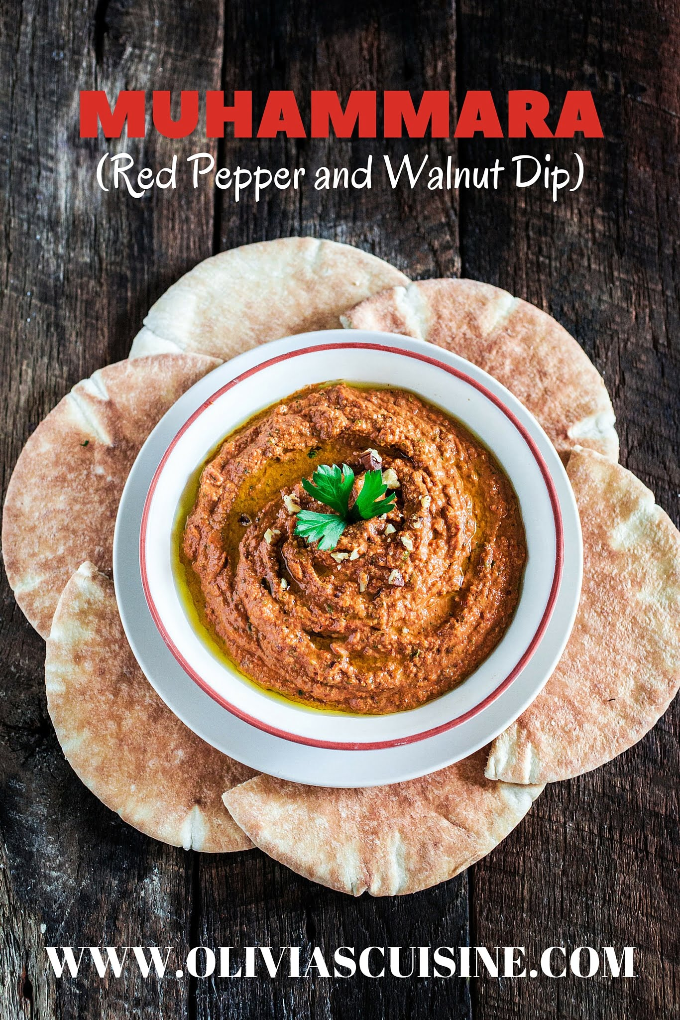 Muhammara (Red Pepper and Walnut Dip) | www.oliviascuisine.com | A ...