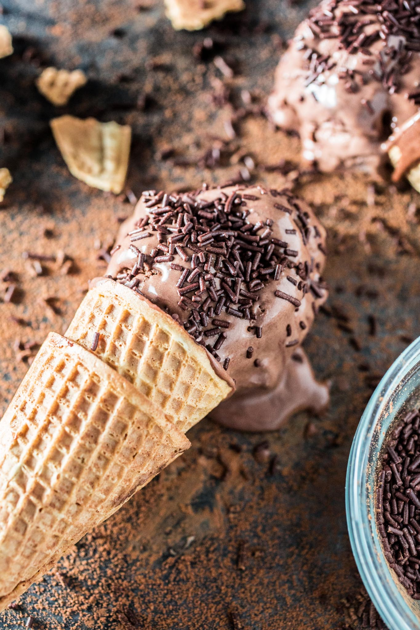 Brigadeiro Ice Cream | www.oliviascuisine.com | A fun frozen twist on a Brazilian favorite dessert: brigadeiro.