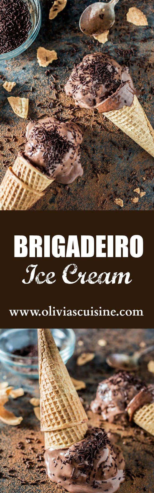 Brigadeiro Ice Cream   www.oliviascuisine.com   A fun frozen twist on a Brazilian favorite dessert: brigadeiro.