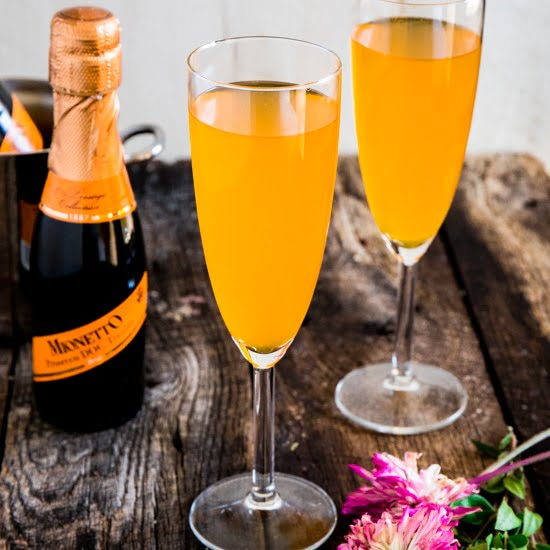 Mimosa Drink: Passion Fruit Prosecco Mimosa