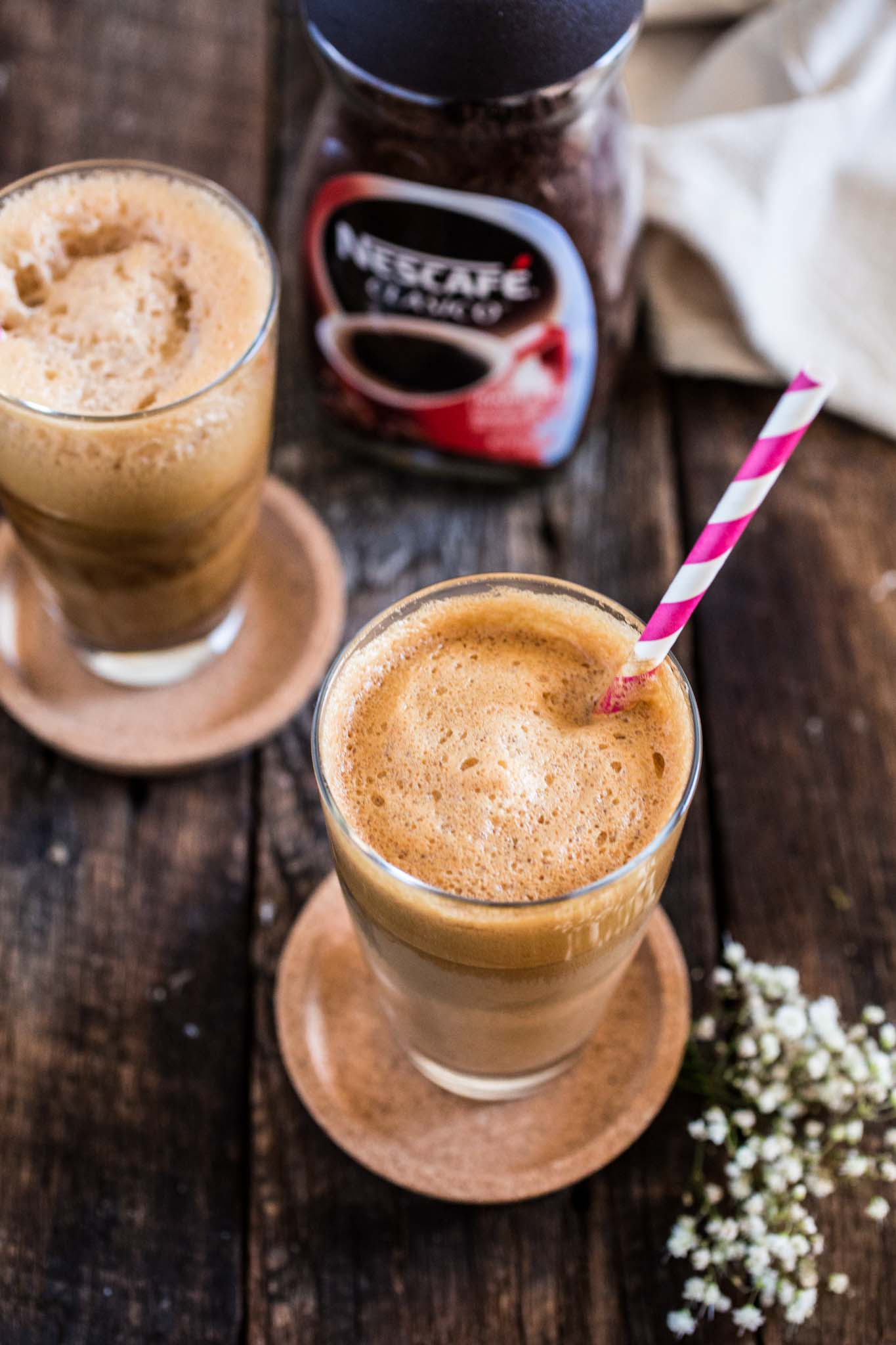Greek Frappe   www.oliviascuisine.com   The hallmark of outdoor Greek coffee culture, the Frappe is a great caffeinated call for those hot summer days! ☀️ (In partnership with NESCAFÉ.)