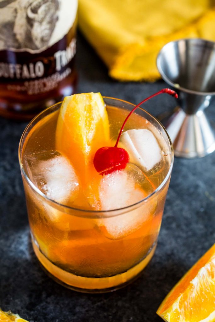 Bourbon Old Fashioned | www.oliviascuisine.com | A classic bourbon cocktail made with sugar, bitters and a good quality bourbon. Perfect for Father's Day!