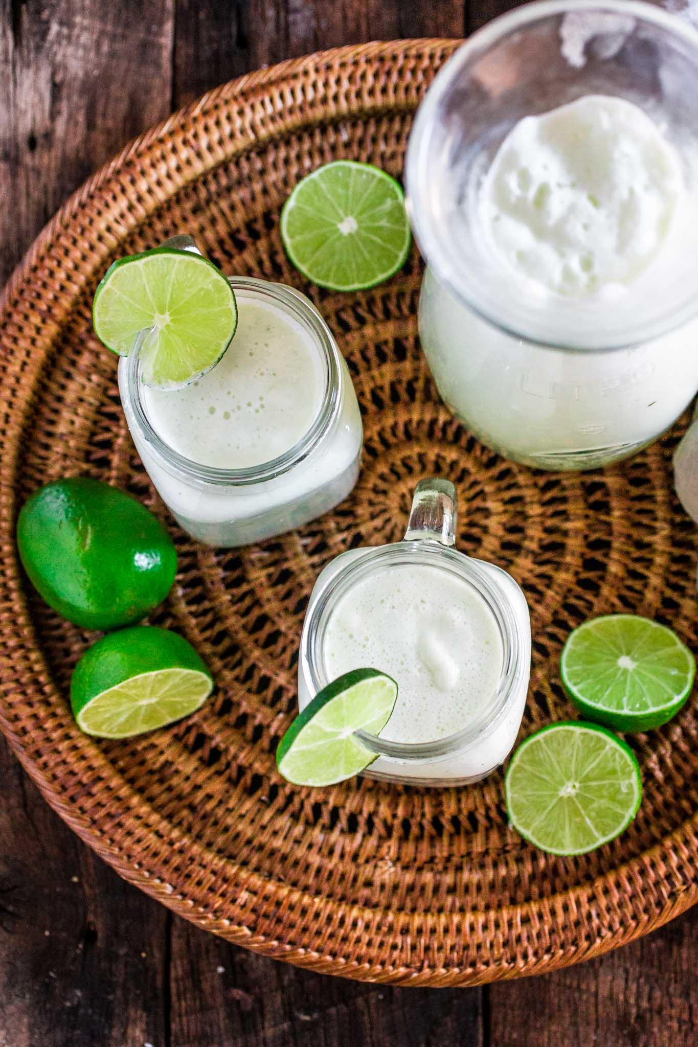 Brazilian Lemonade   www.oliviascuisine.com   The creamiest and sweetest lemonade (or limeade) you have ever tried. The secret? Sweet condensed milk. Sweet just like Brazilians like it!