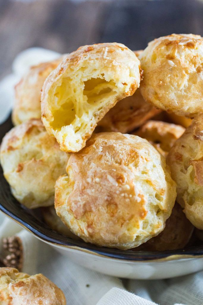 Gougeres (French Cheese Puffs)   www.oliviascuisine.com   A delicate savory hors d'oeuvre made with Gruyere cheese.