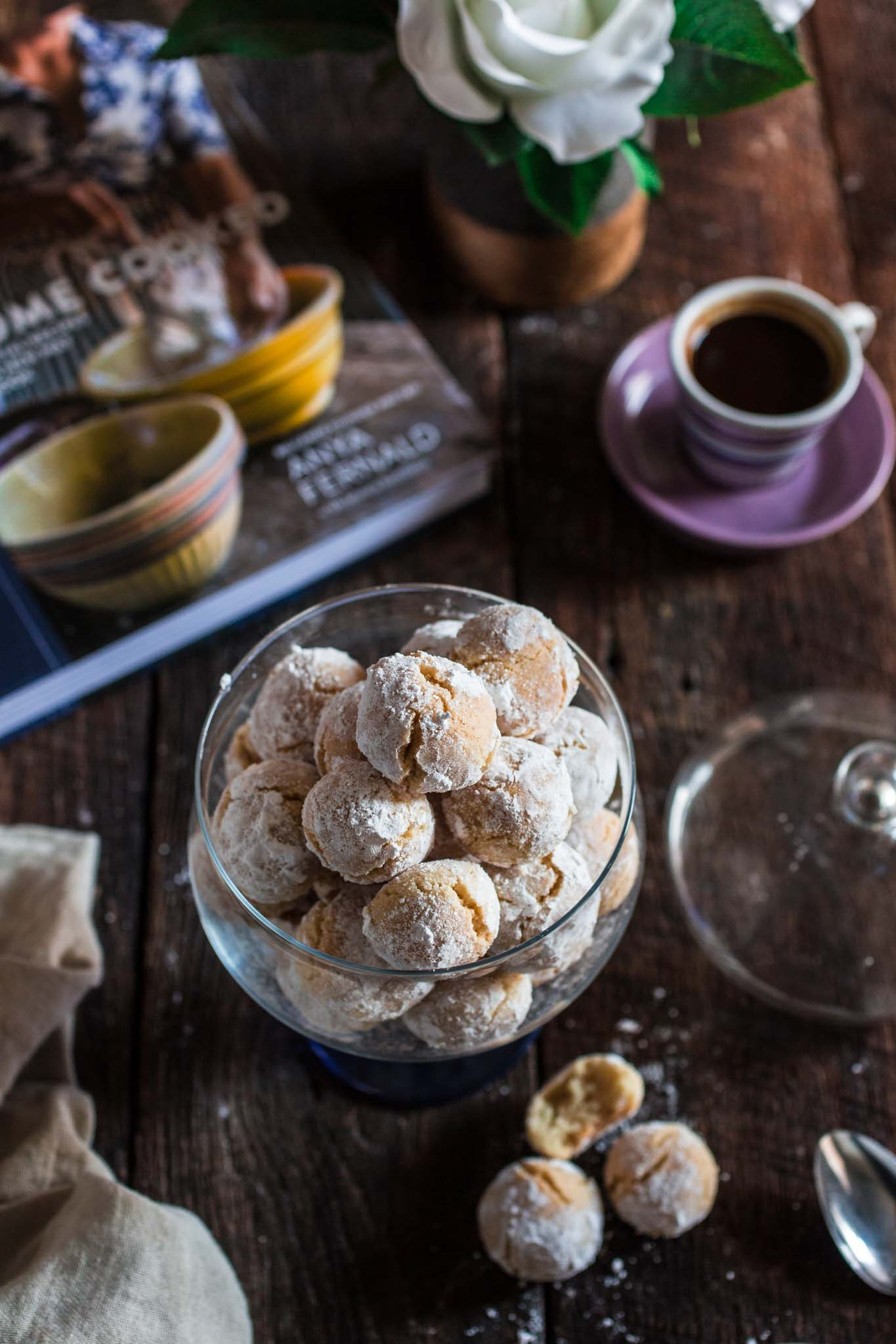 Amaretti Cookies   www.oliviascuisine.com   These chewy almond-flavored cookies are the most perfect accompaniment for a cup of coffee or Italian espresso. You might wanna double the batch, because they usually go very quickly!