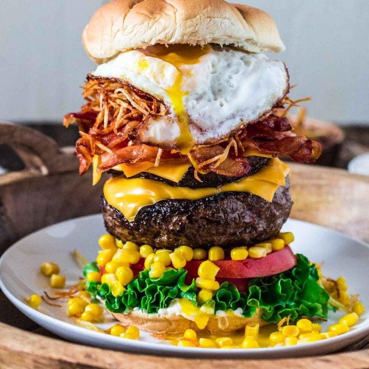 Brazilian Epic Burger with Egg