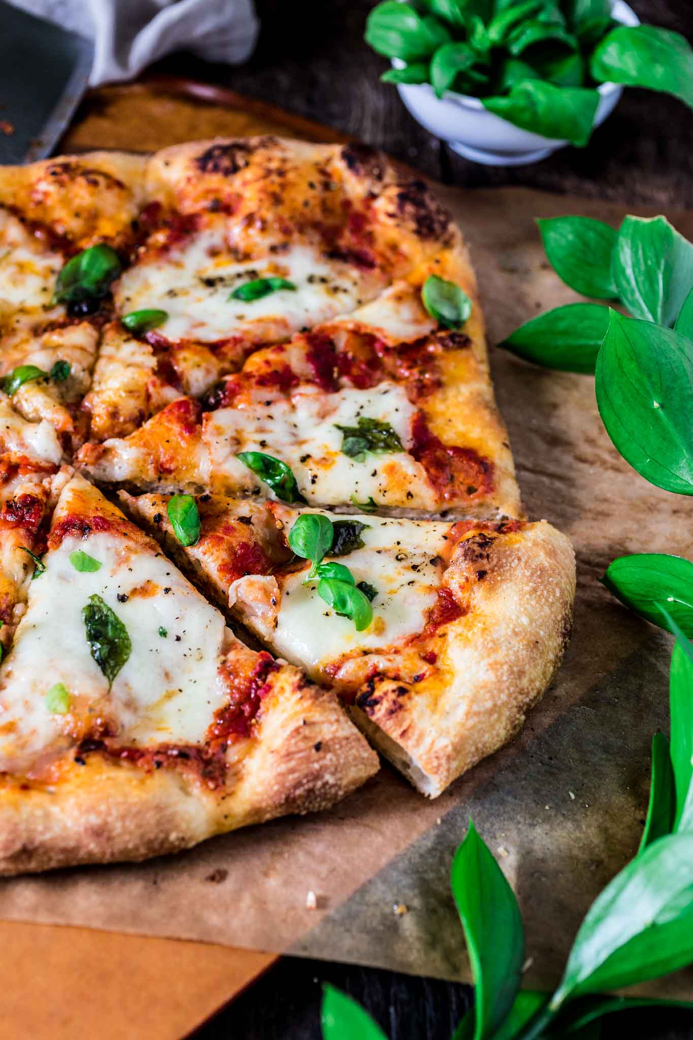 Classic Pizza Margherita | www.oliviascuisine.com | This delicious Margherita pizza is proof that some of the best things in life are the simplest. Only a few fresh ingredients create this iconic pizza from Naples. (In partnership with @Mezzetta.)