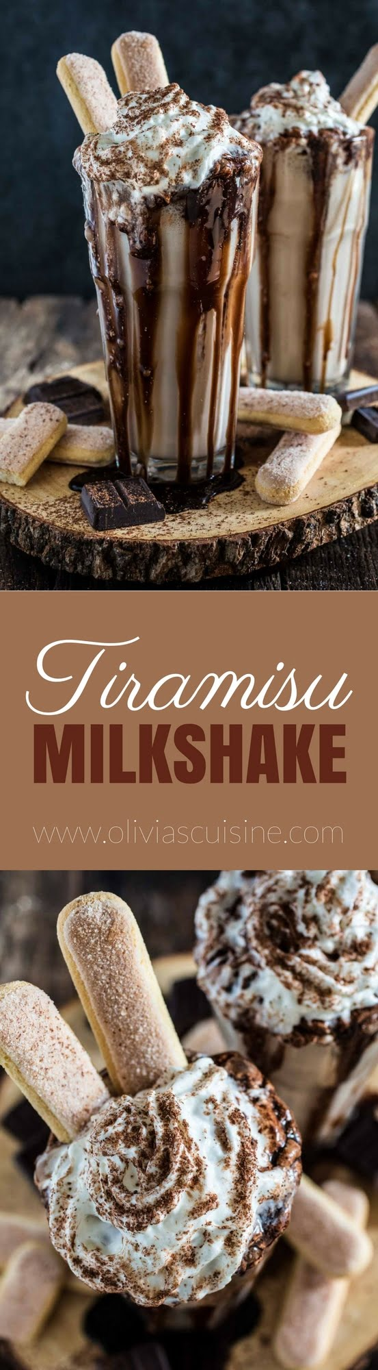 Tiramisu Milkshake | www.oliviascuisine.com | This EPIC milkshake, inspired by the classic Italian tiramisu, is rich, creamy and oh so delicious. It will definitely blow your mind!