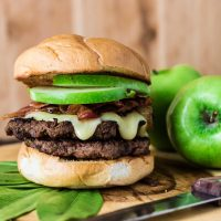 Apple, Bacon and Brie Burger