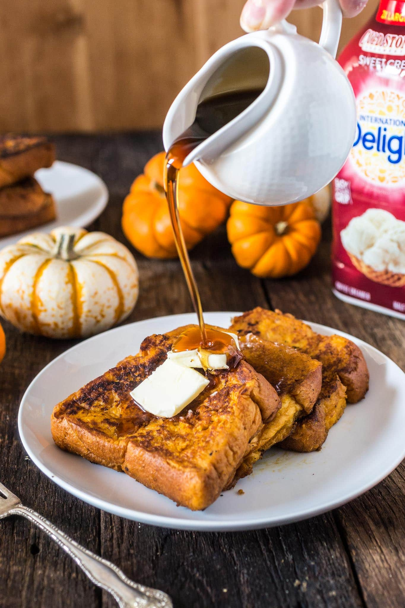 Pumpkin French Toast | www.oliviascuisine.com | This Pumpkin French Toast is the perfect Fall breakfast! Easy, delicious and coated in everybody's favorite autumnal ingredient: pumpkin, of course.