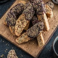 Chocolate Dipped Cinnamon Pecan Biscotti