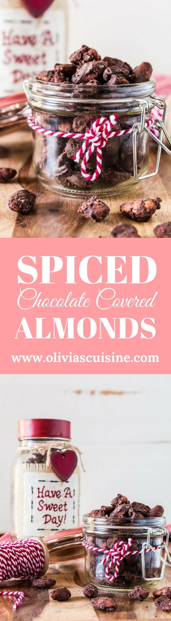 Spiced Chocolate Covered Almonds | www.oliviascuisine.com | If you love chocolate covered almonds, you'll fall head-over-heels in love with this spiced version. They are great as an everyday snack but they also make a lovely edible gift!