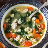 Turkey, Kale and Rice Soup
