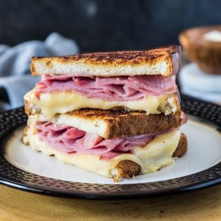 Gouda and Ham Melt | www.oliviascuisine.com | If you're in the mood for a hearty sandwich but don't have the energy for anything too complicated, this Gouda and Ham Melt is the perfect sandwich for you! (Recipe by @oliviascuisine)
