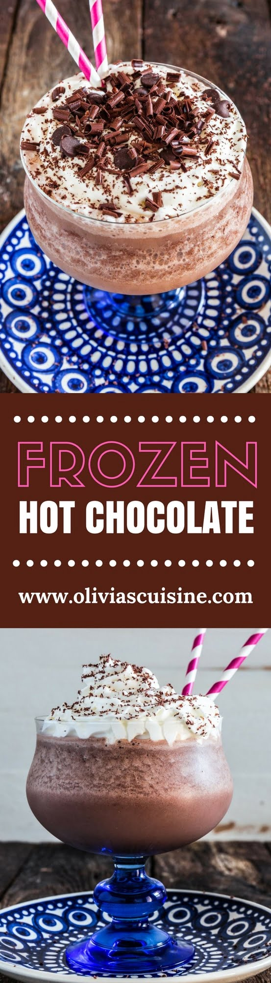 """Frozen Hot Chocolate   www.oliviascuisine.com   Deliciously irresistible, this Frozen Hot Chocolate - inspired by the version served at Serendipity in NYC - is the ultimate summer treat! No wonder it makes Oprah want to """"dance on the chandeliers"""". ??? (Recipe by @oliviascuisine.)"""