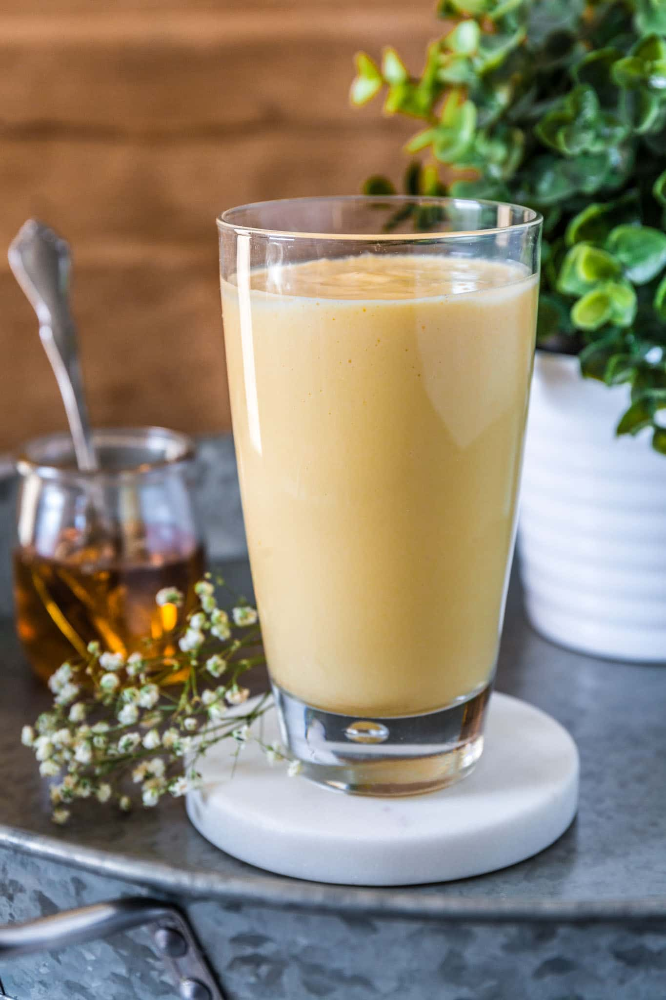 Mango Lassi | www.oliviascuisine.com | There's nothing as refreshing as a delicious Mango Lassi! This popular yogurt-based Indian drink is like a mango milkshake that you can have for breakfast. (Recipe by @oliviascuisine.)