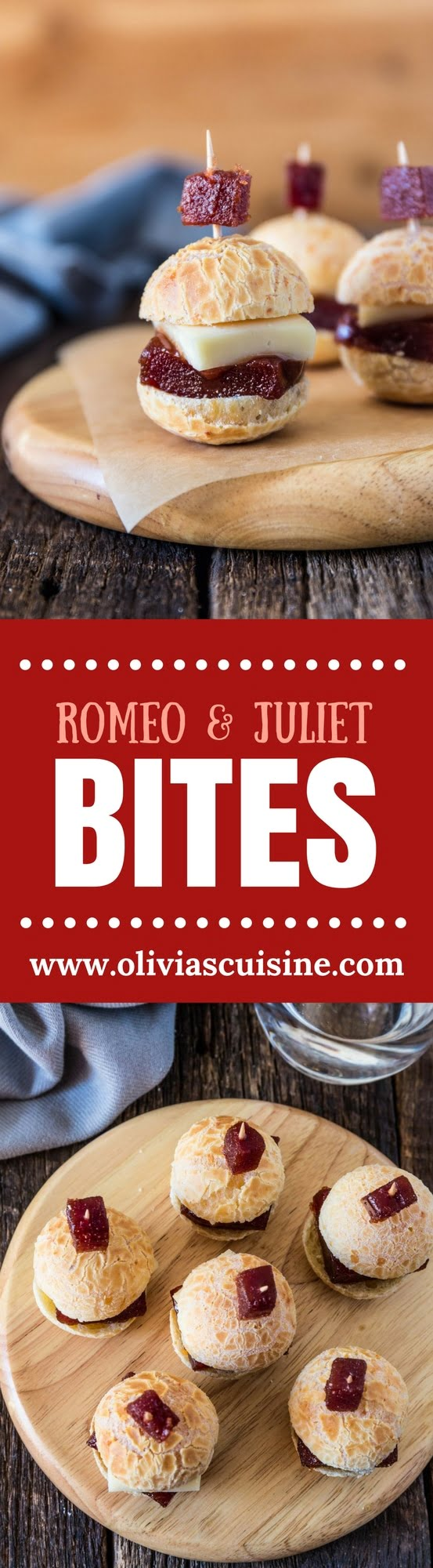 Romeo and Juliet Bites | www.oliviascuisine.com | A popular Brazilian flavor combination transformed into a party sized appetizer, which I decided to call Romeo and Juliet Bites! Because, as we say in Brazil, cheese without guava paste (goiabada) is like Romeo without Juliet. (Recipe by @oliviascuisine.)