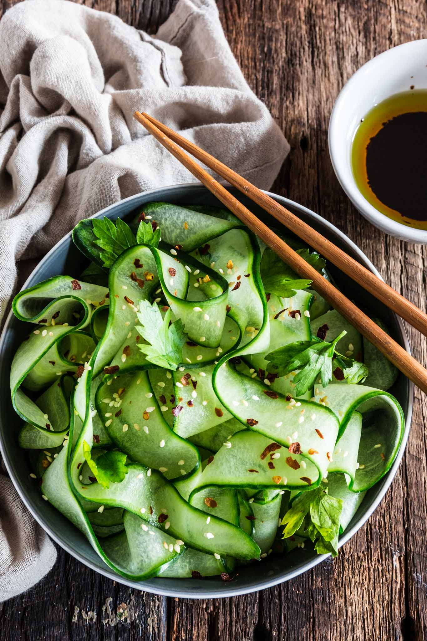 Thai Cucumber Salad with Sesame Ginger Dressing | www.oliviascuisine ...