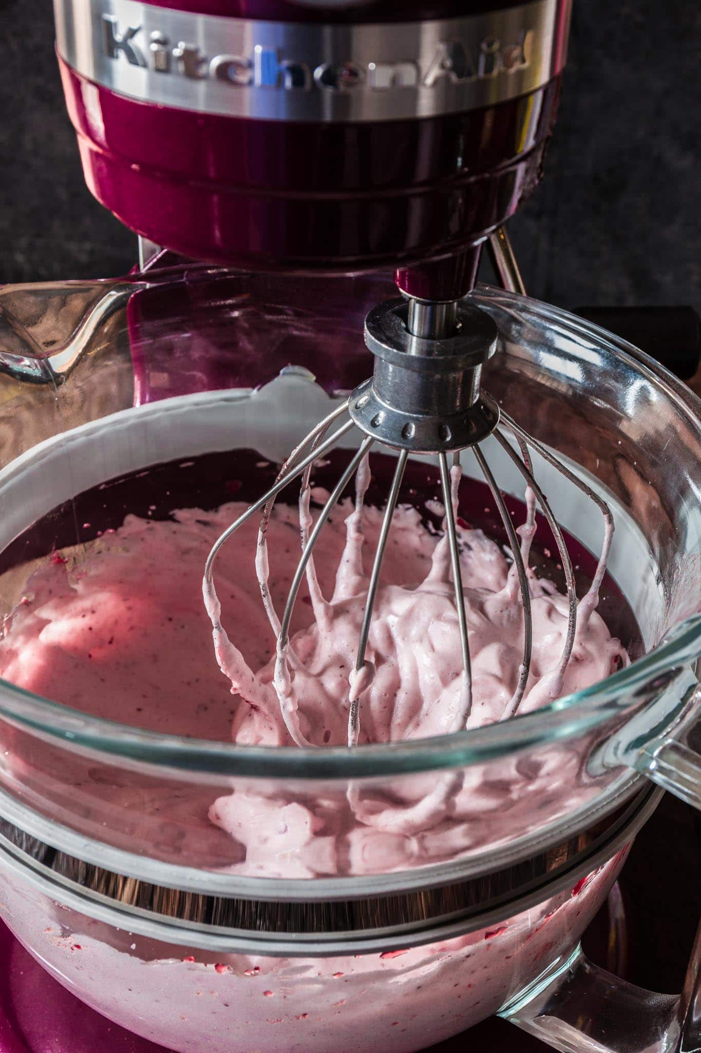 Trollkrem (Norwegian Lingonberry Mousse) | www.oliviascuisine.com | This Norwegian Trollkrem, aka the easiest dessert in the world, is a great dairy free recipe to have up your sleeve for when you have unexpected guests! Sweet, tart and oh so creamy! (Recipe by @oliviascuisine.)