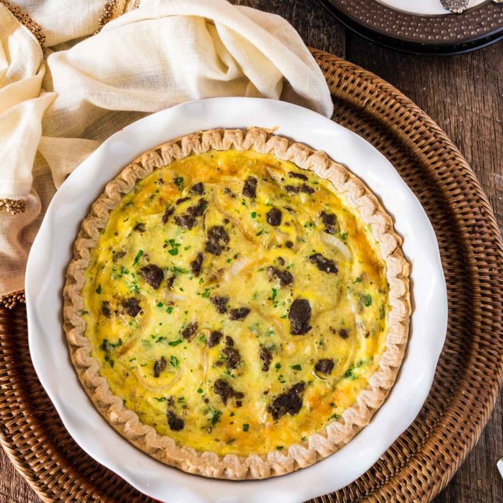Turkey Sausage and Smoked Gouda Quiche
