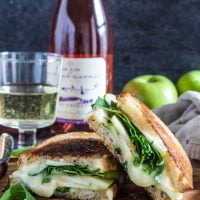 Apple, Arugula and Brie Panini with Honey Butter