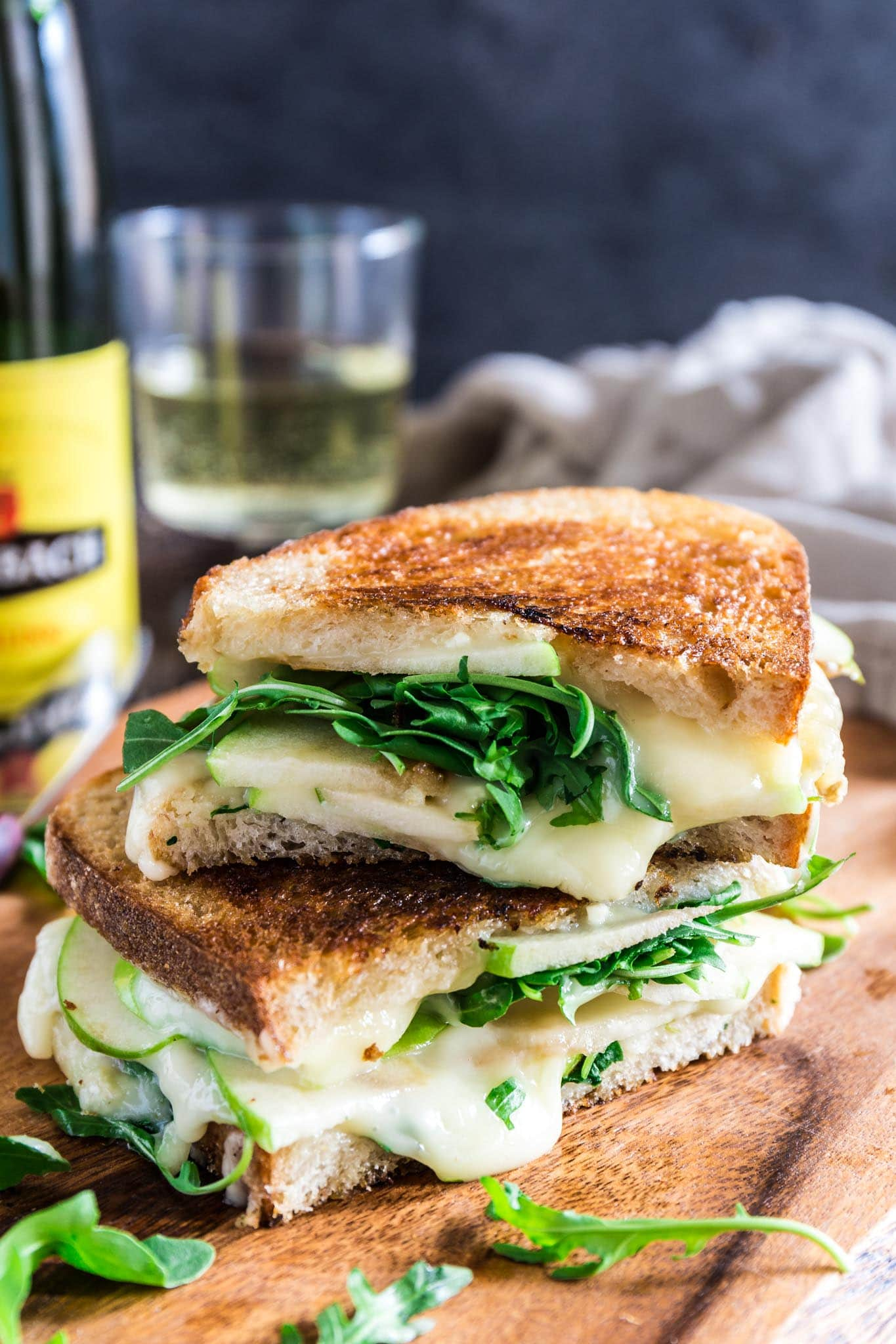 Apple, Arugula and Brie Panini with Honey Butter | www.oliviascuisine.com | Be ready to be wowed! One bite of this French inspired Apple, Arugula and Brie Panini with Honey Butter and you're on a one way trip to France. No need for a return ticket as I'm 100% sure you will never wanna go back! (Recipe by @oliviascuisine.)