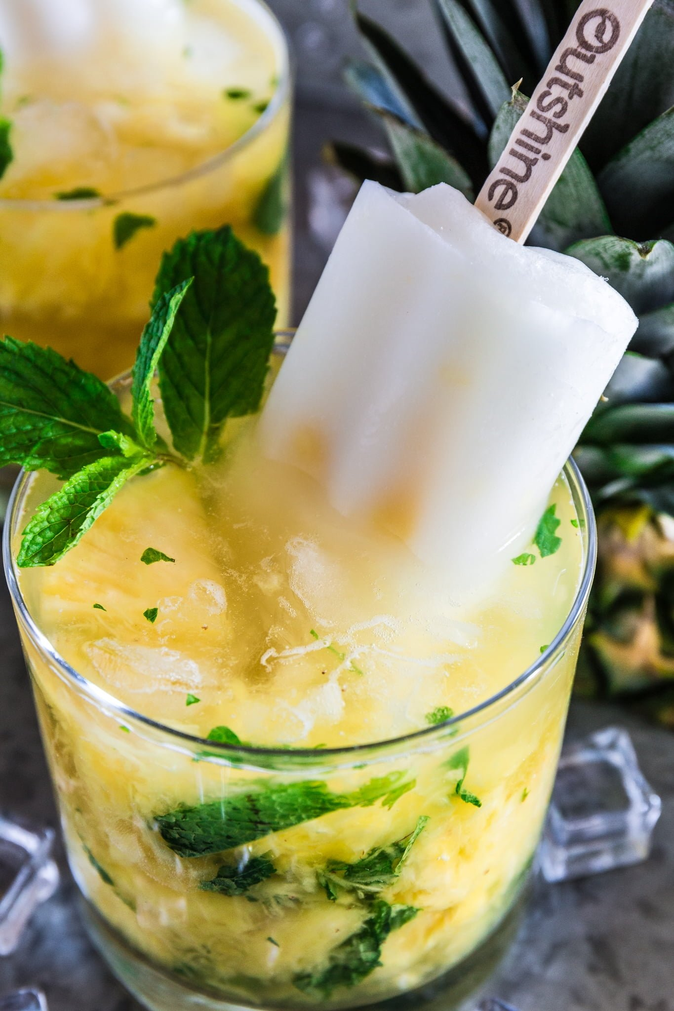 Pineapple Mint Fruit Bar Caipirinha   www.oliviascuisine.com   Summer is almost here and this Pineapple Mint Fruit Bar Caipirinha will be the hit of your parties! Sweet, refreshing and very easy to make. Who doesn't love that? (Recipe by @oliviascuisine.)