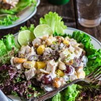 Pineapple Grape Turkey Salad