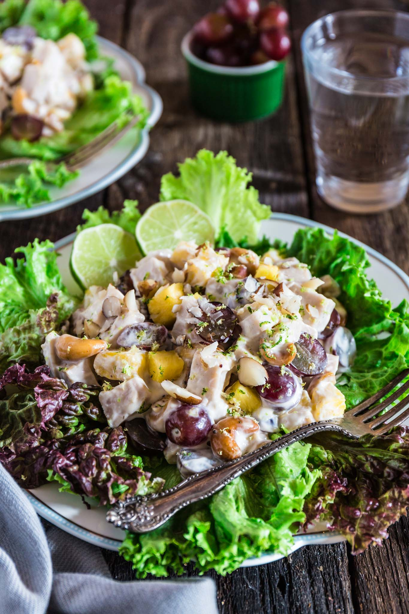 Pineapple Grape Turkey Salad   www.oliviascuisine.com   This delicious tropical twist on a creamy turkey salad makes this the summer salad nobody can resist! Perfect in sandwiches, spread on crackers or just as is. (Recipe and food photography by @oliviascuisine.)