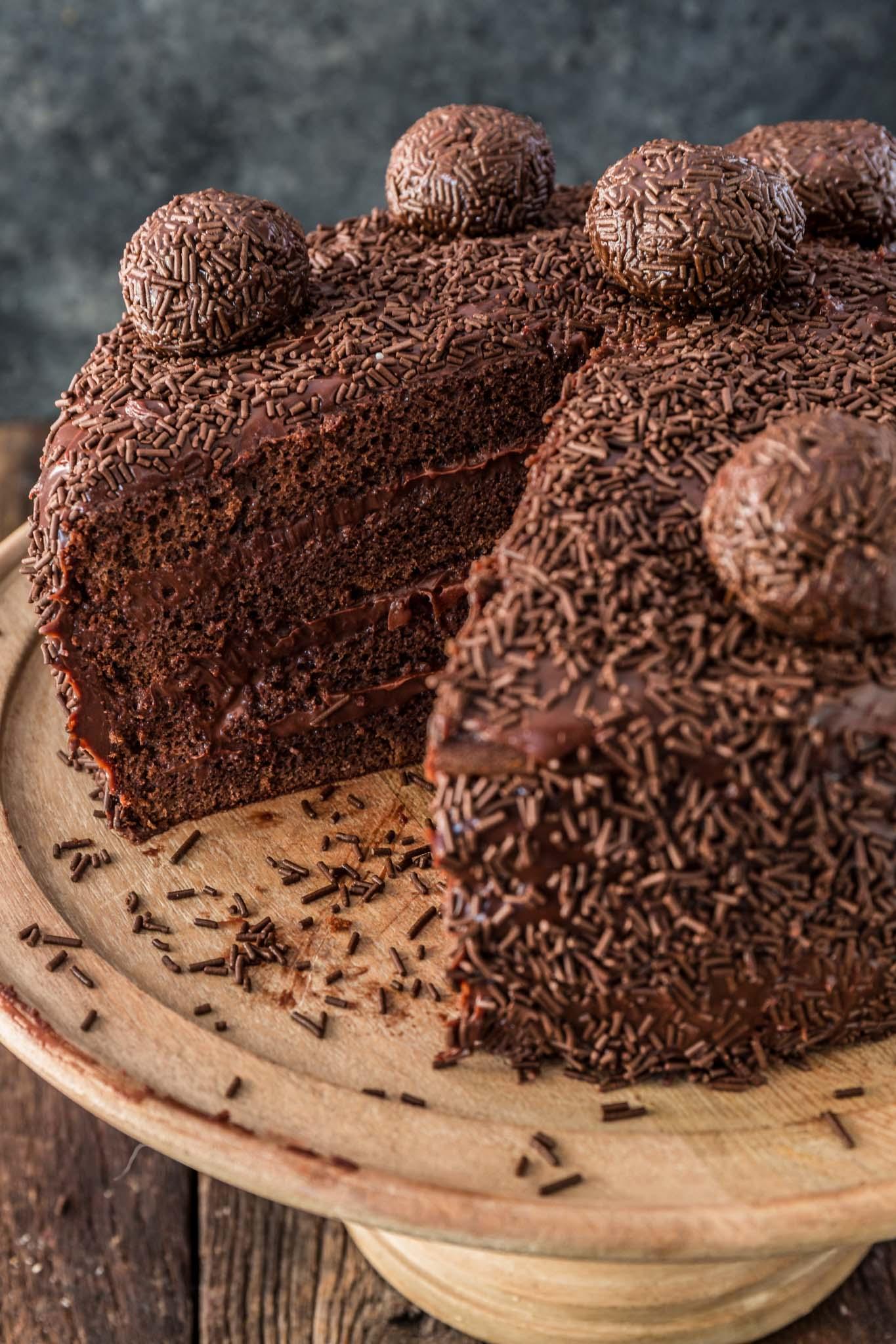 Stupendous Brigadeiro Cake Olivias Cuisine Funny Birthday Cards Online Inifodamsfinfo
