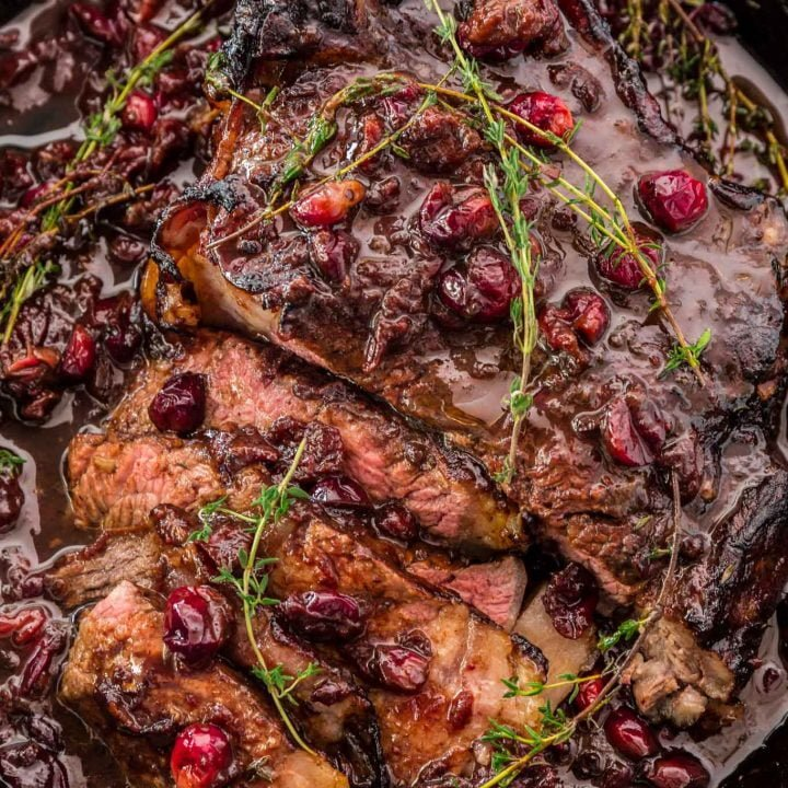 Cranberry Balsamic Roast Beef