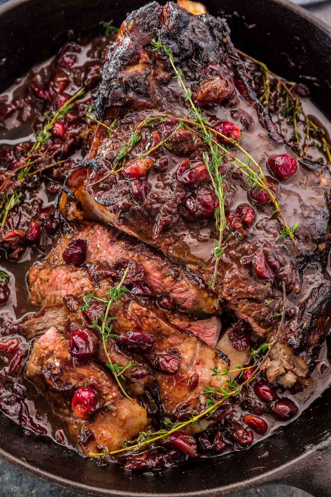 Cranberry Balsamic Roast Beef   www.oliviascuisine.com   This holiday season, impress your guests with this delicious Cranberry Balsamic Roast Beef! A little tangy, a little sweet and a whole lot of mouthwatering. Perfect to feed a crowd!