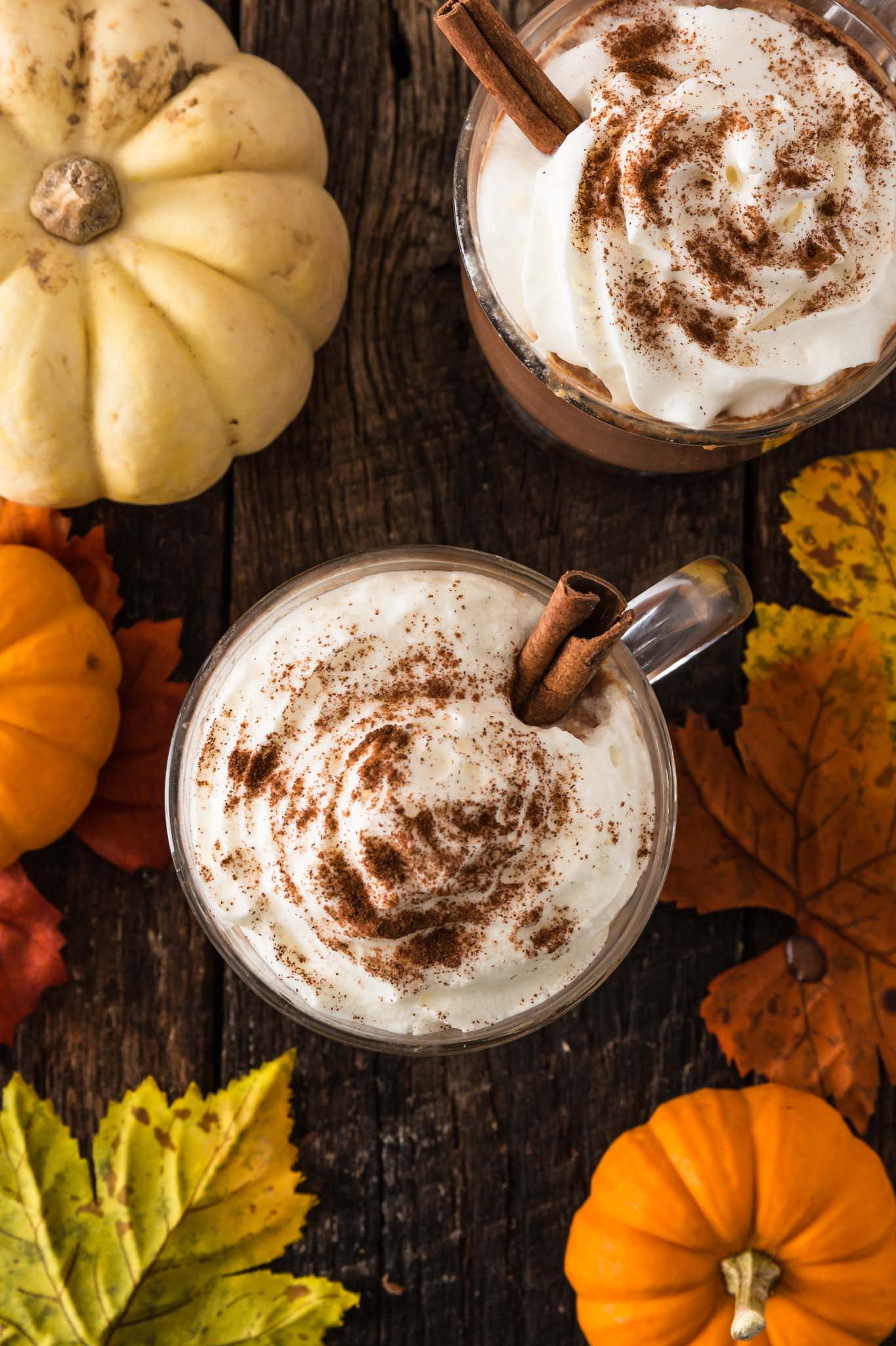 Pumpkin Spice Hot Chocolate | www.oliviascuisine.com | Creamy and extra rich, this Pumpkin Spice Hot Chocolate tastes like Fall in a cup. I can't think of a better way to celebrate the season! (Recipe and food photography by @oliviascuisine.)