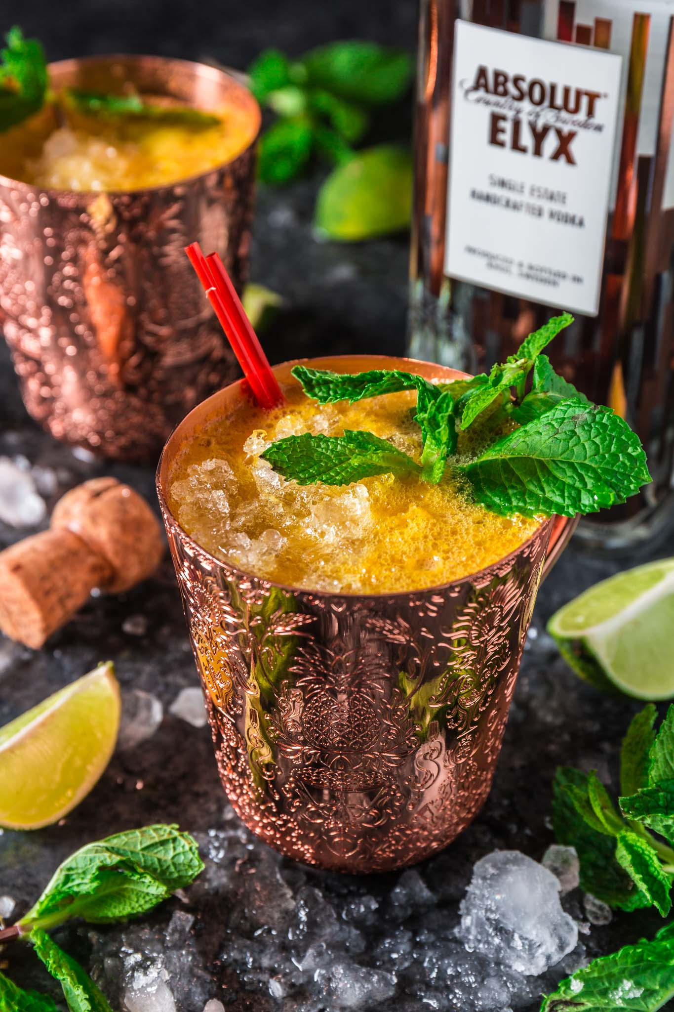 Fizzy Passion Fruit Cocktail | www.oliviascuisine.com | This holiday season, ditch the same old eggnog for a delicious and tropical premium vodka cocktail. Easy, refreshing and oh so luxurious! (Recipe and food photography by @oliviascuisine.)