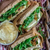 Grilled Zucchini Sandwich with Green Olive Pesto