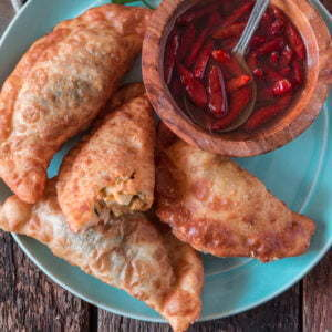 Brazilian Pastel (3 Fillings)   www.oliviascuisine.com   Brazil's most popular street food, pastel, is a treat you will never forget! Crispy, deep fried and bursting with delicious fillings. Absolutely irresistable! (Recipe and food photography by @oliviascuisine.)