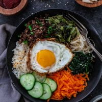 Bibimbap (Korean Beef and Rice Bowl)