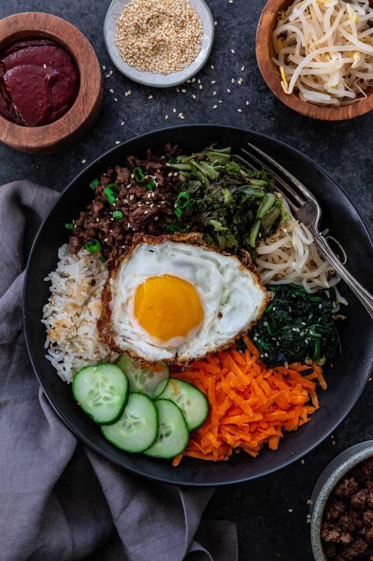 Bibimbap Recipe Korean Beef Rice Bowl Olivia S Cuisine