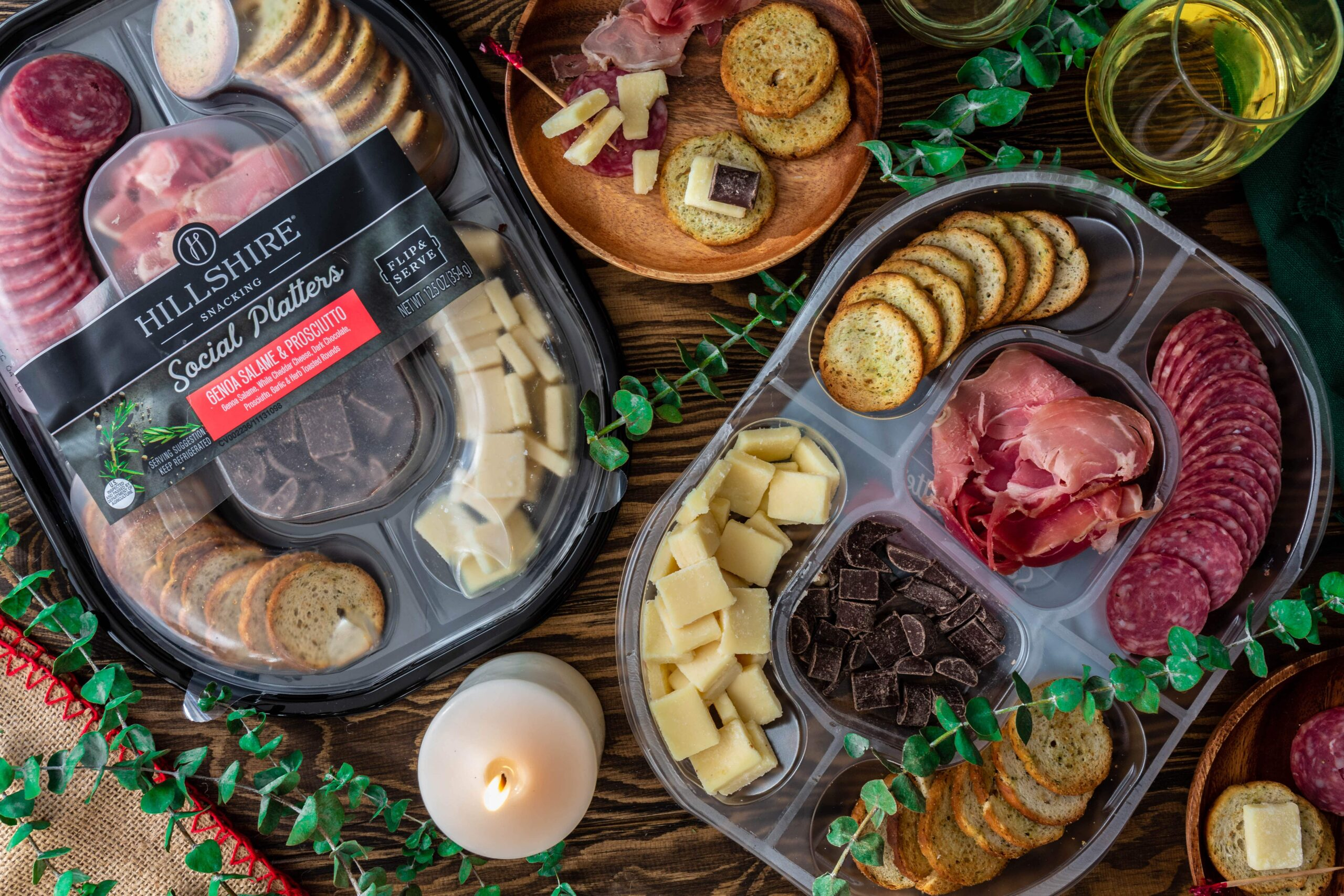 How to Host a Low Key Yet Classy Holiday Party | www.oliviascuisine.com | Imagine you could host a party and enjoy yourself at the same time. Hard to believe it's possible? With the help of Hillshire® Snacking Social Platters, it is! Just head over to the blog to read my tips and be prepared to let go of all that holiday season stress.