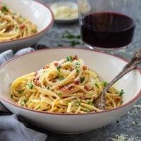 Spaghetti alla Carbonara for Two
