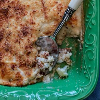 A small photo of a cauliflower gratin casserole