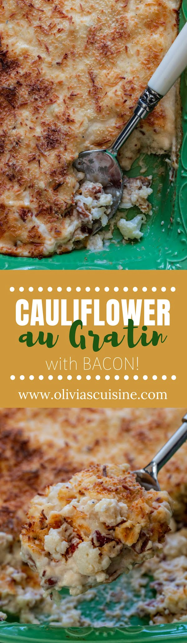 A collage of Cauliflower Gratin photos