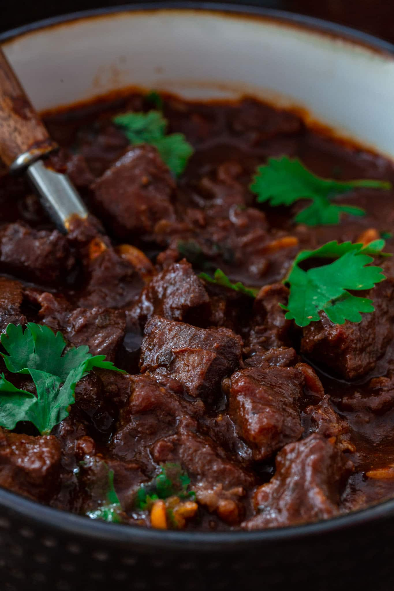 Rich and robust chocolate chili.