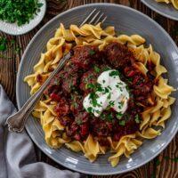 Pörkölt - Hungarian Beef and Onion Stew