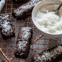 Low Carb Chocolate Coconut Bars