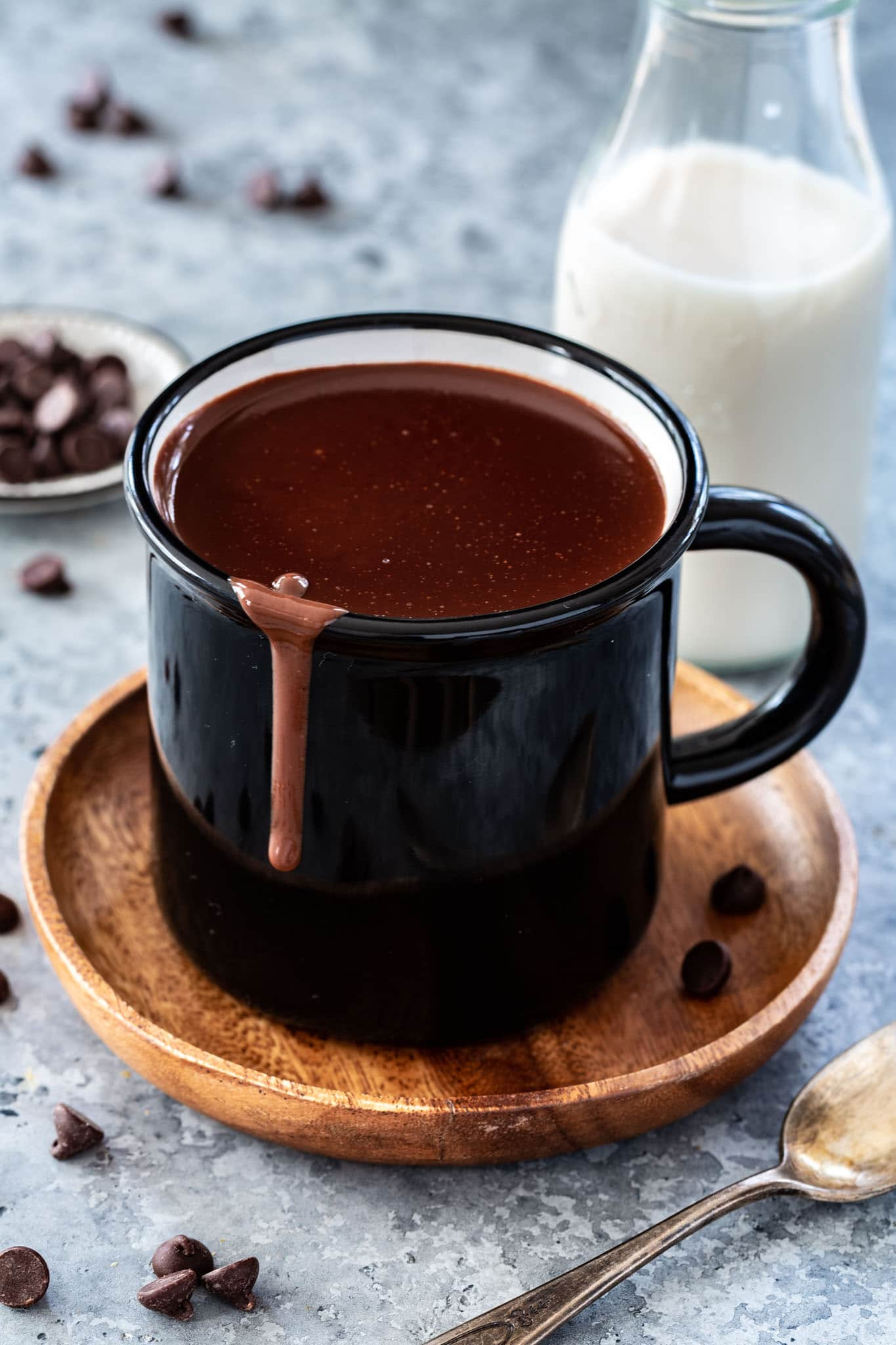 a rich and decadent mug of healthy hot chocolate